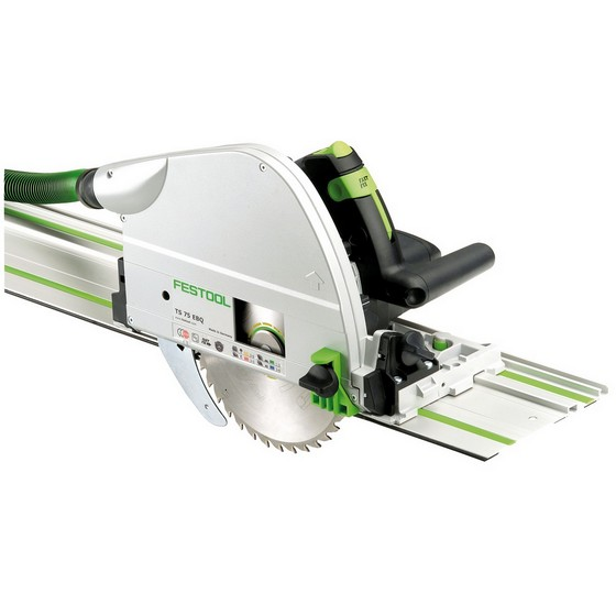 FESTOOL 561514 TS75EBQ-PLUS-FS 210MM PLUNGE SAW WITH 1.4M GUIDE RAIL 240V (SUPPLIED IN SYSTAINER CASE)