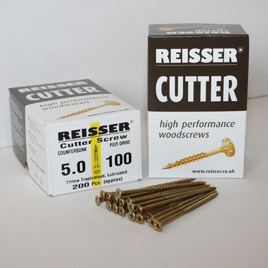 Reisser Cutter Countersunk Pozidrive Woodscrew 4.5 x 30mm Box of 200