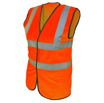 SCAN HI-VIS WAISTCOAT ORANGE LARGE