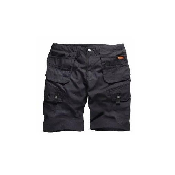 SCRUFFS T54112 WORKER COMBAT SHORT BLACK