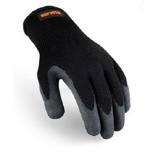 SCRUFFS UTILITY BLACK LATEX COATED GLOVES