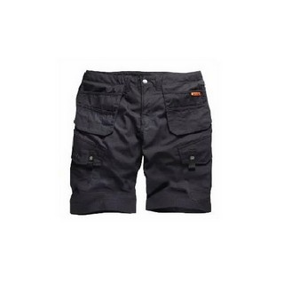 SCRUFFS WORKER COMBAT SHORT BLACK (32W)