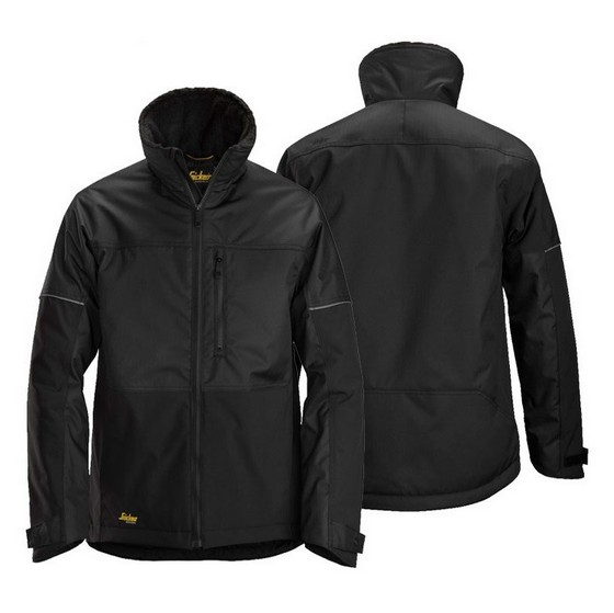 SNICKERS 1148 ALLROUND BLACK WINTER JACKET + FREE 8041 BLACK HOODIE (MEDIUM)