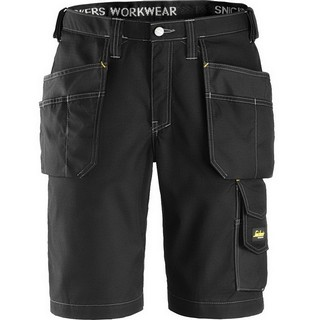 SNICKERS 3023 RIP-STOP SHORTS BLACK (32L, 38W)