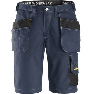 SNICKERS 3023 RIP-STOP SHORTS NAVY/BLACK (32 INCH LEG)