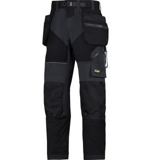 SNICKERS 6902 FLEXI TROUSERS BLACK (L32, W33)