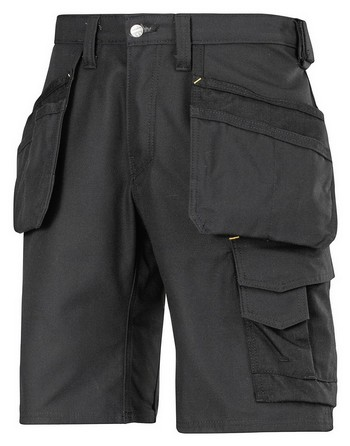 SNICKERS CANVAS WORK SHORTS BLACK