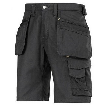 SNICKERS CANVAS WORK SHORTS BLACK (W33 IN)