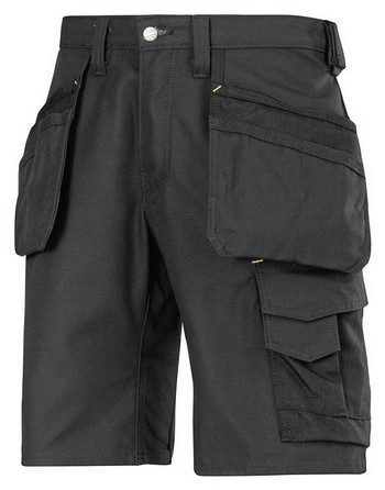 SNICKERS CANVAS WORK SHORTS BLACK (W35 IN)