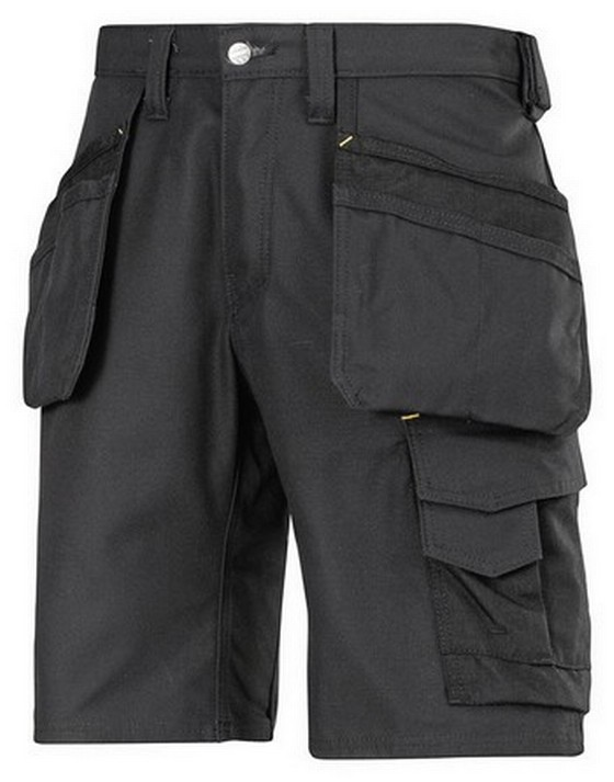 Snickers Canvas Work Shorts Black W36