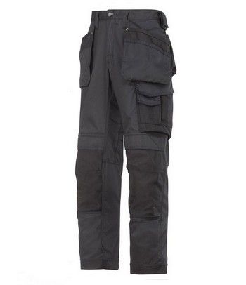 SNICKERS COOLTWILL TROUSERS WITH HOLSTERS BLACK 3211 0404 (32 INCH LEG)