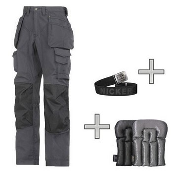 SNICKERS FLOORLAYER WORKPACK WITH KNEEPADS & BELT (33W, 32L)