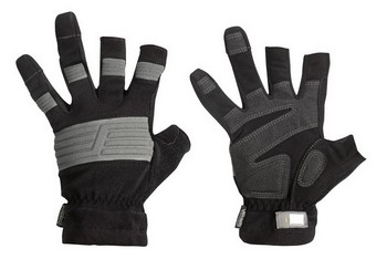 SNICKERS OPEN FINGER GLOVES BLACK / GREY 9520 0418