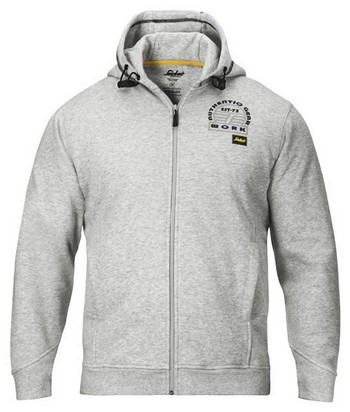 SNICKERS ZIPPED SWEATSHIRT HOODIE GREY 2809 1800