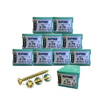 SPAX SCREWS POZI CSK BOX 100 5 X 70MM 10 BOXES DEAL