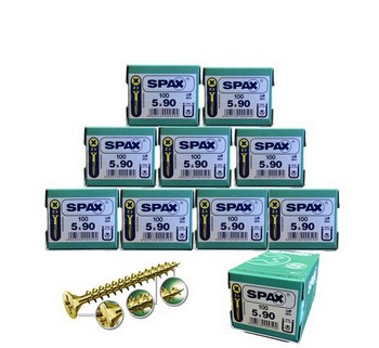SPAX SCREWS POZI CSK BOX 100 5 X 90MM 10 BOXES DEAL