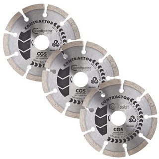 SPECTRUM CGS 115MM GENERAL PURPOSE STANDARD DIAMOND BLADES (PACK OF 3)