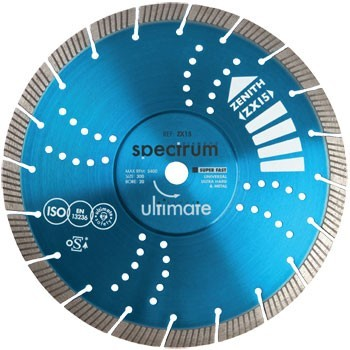 SPECTRUM ZX15 230MM ZENITH ULTIMATE UNIVERSAL DIAMOND DISC
