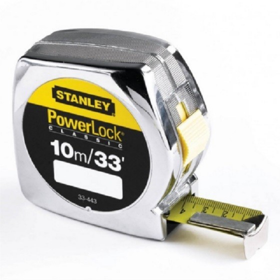 STANLEY STA033443 POWERLOCK TAPE MEASURE 10 METRE / 33FT