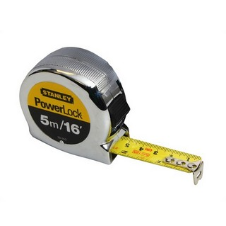 STANLEY STA033553 POWERLOCK TAPE MEASURE 5M/16FT