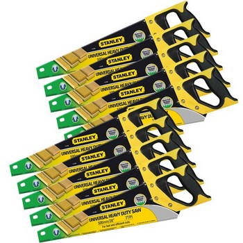 STANLEY STA120090 HEAVY DUTY SHARPCUT HANDSAW 500MM (20 IN) 7TPI PACK OF 10