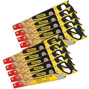 STANLEY STA120095 FINE SHARPCUT HANDSAW 550MM (22 IN) 11TPI PACK OF 10