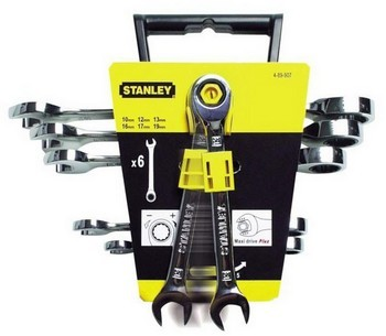 STANLEY STA489907 6 PIECE MAXI DRIVE PLUS COMBI RATCHET WRENCHES