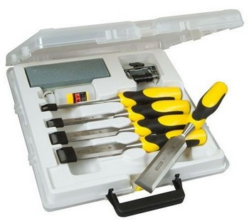 STANLEY STA516421 5 PIECE ASSORTED DYNAGRIP STRIKE CAP CHISEL SET WITH ACCESSORIES