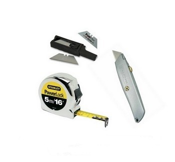 STANLEY TAPE MEASURE, KNIFE AND BLADES DEAL