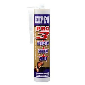 TEMBE HIPPO PRO 3-IN-1 SEALANT ADHESIVE WHITE 290ML