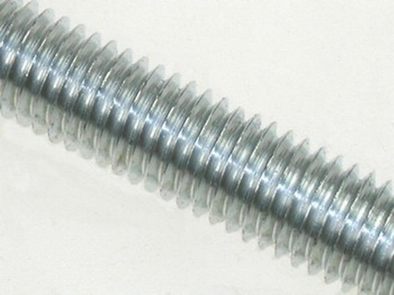 Threaded Rod Studding 6mmX1 Metre Bright Zinc Plated