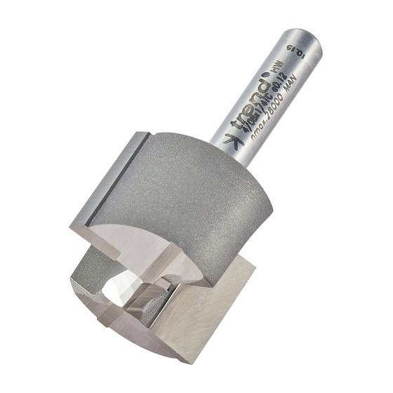 TREND 4/08X1/4TC TWO FLUTE CUTTER 1/4 INCH SHANK 25.4MM DIAMETER X 19MM