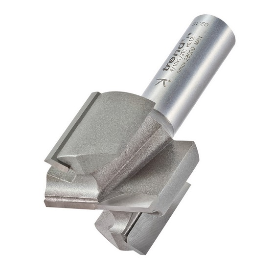 TREND 4/10X1/2TC TWO FLUTE CUTTER 1/2 INCH SHANK 35MM DIAMETER X 25MM