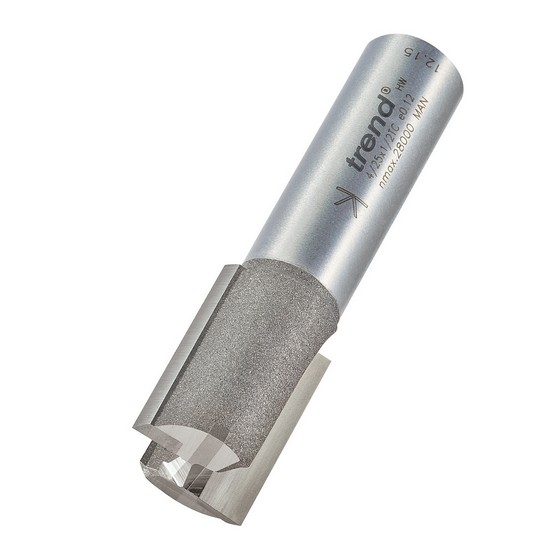 TREND 4/25X1/2TC TWO FLUTE CUTTER 17MM DIAMETER