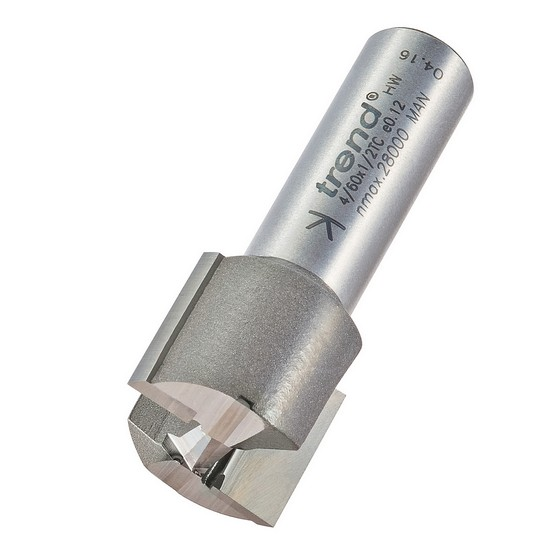 TREND 4/60X1/2TC TWO FLUTE CUTTER 22 MM DIAMETER