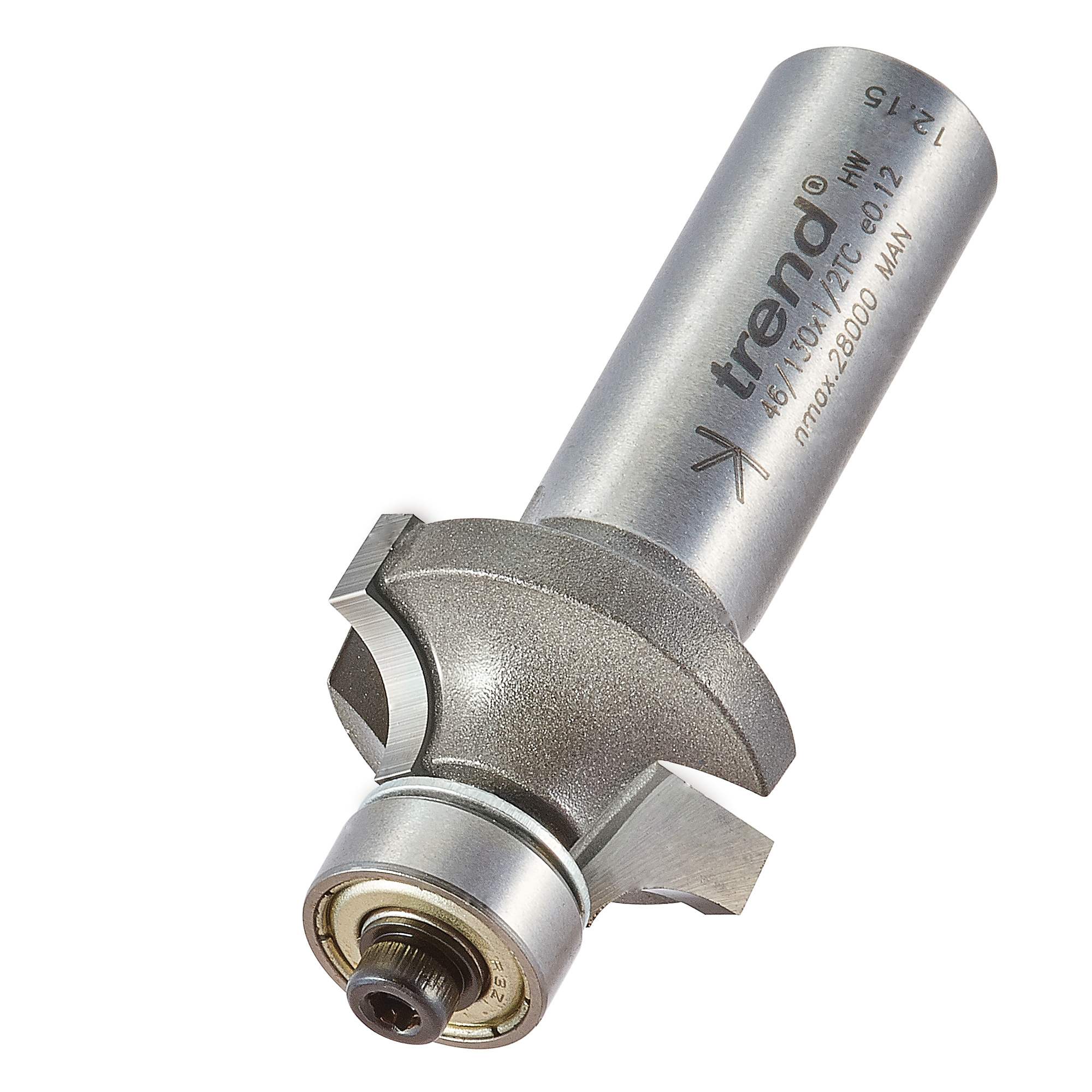 TREND 46/130X1/2TC BEARING GUIDED OVOLO CUTTER 6.3MM RADIUS