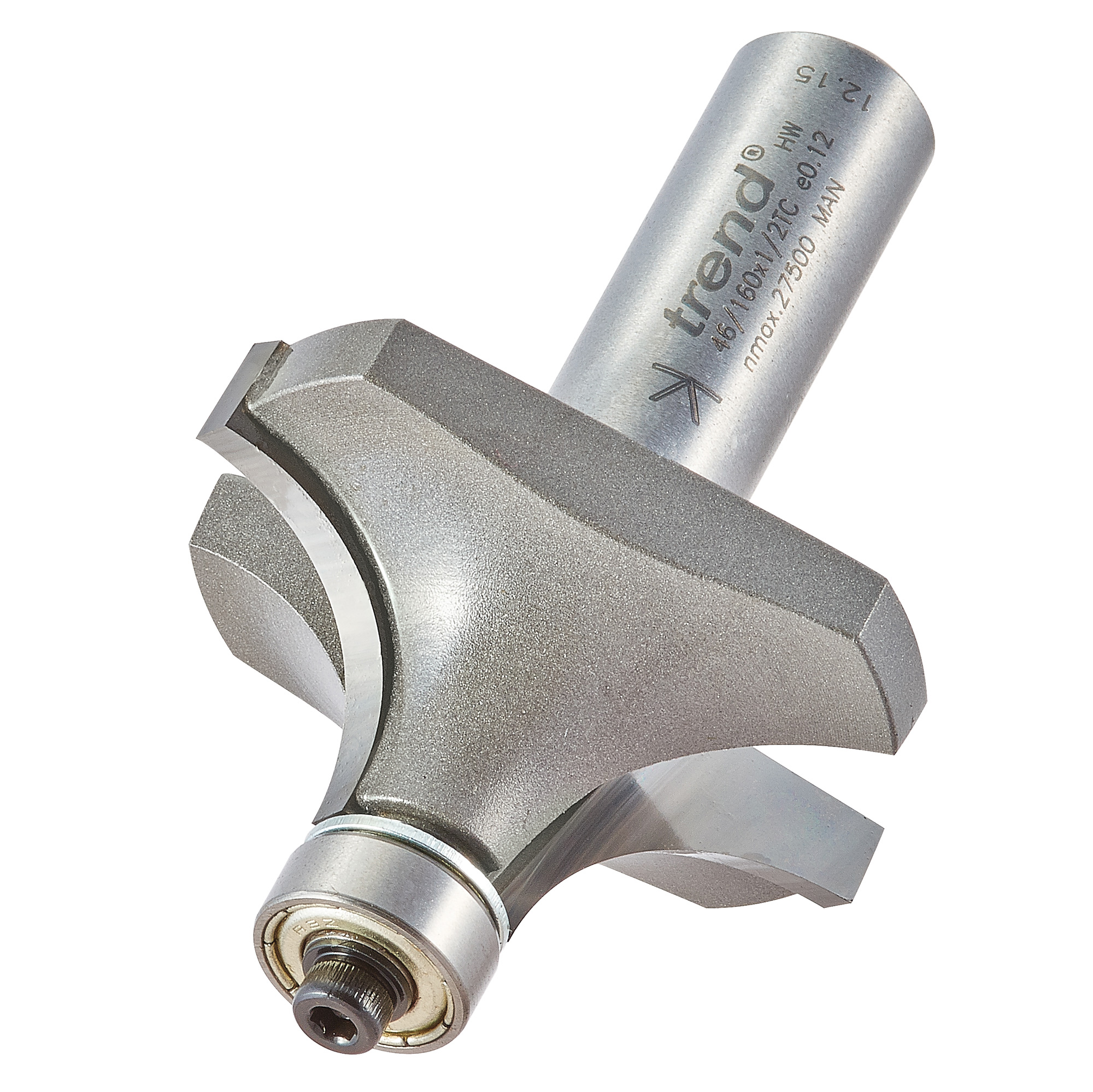 TREND 46/160X1/2TC BEARING GUIDED OVOLO CUTTER 16MM RADIUS