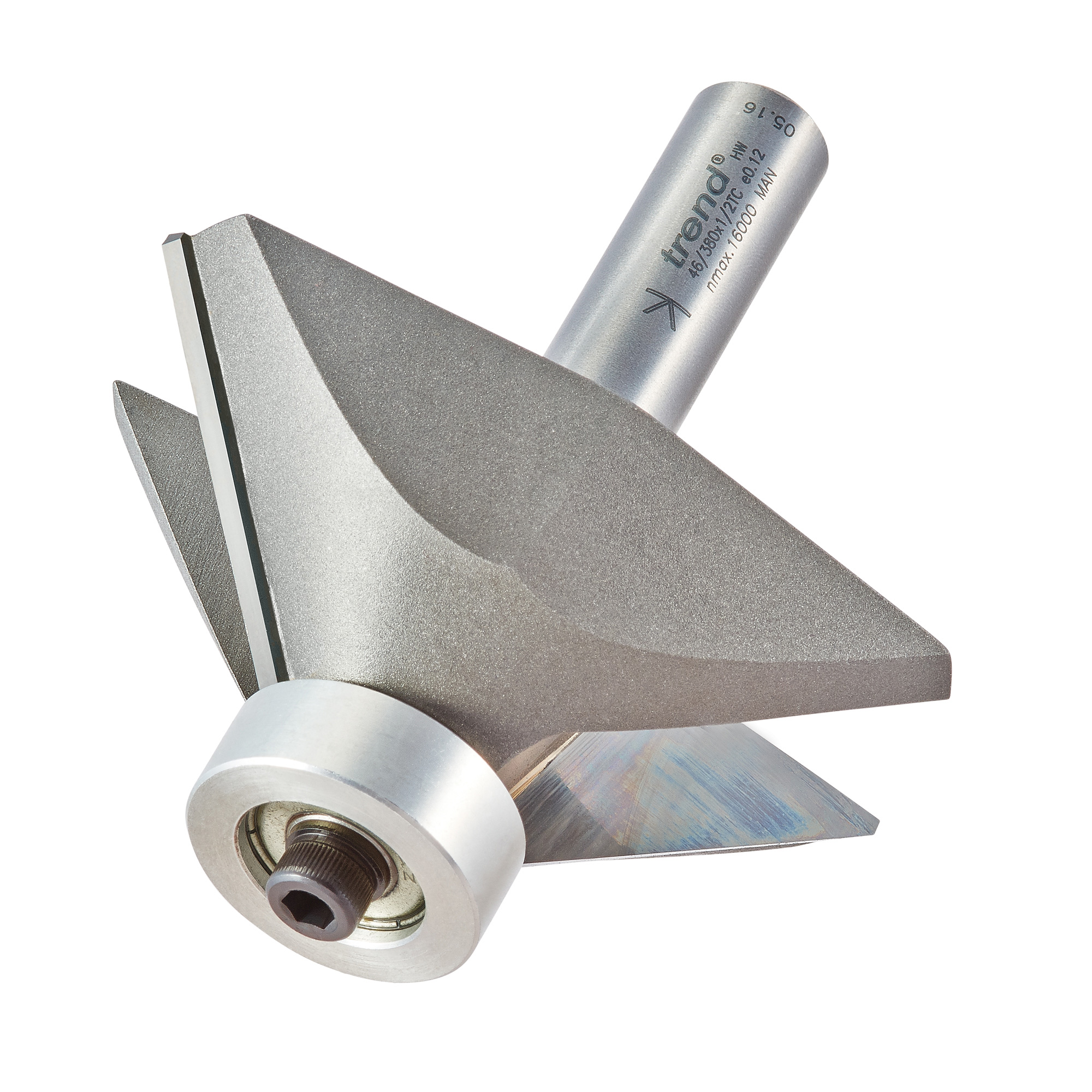 TREND 46/380X1/2TC BEARING GUIDED CHAMFER CUTTER 45 DEGREES