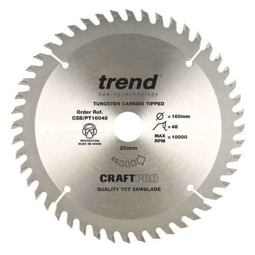 TREND CSB/16048 CRAFT BLADE PT TCP 160 X 48T X 20MM