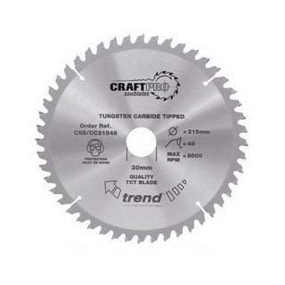 TREND CSB/18548 SUPER FINE FINISH TCT CIRCULAR SAW BLADE 48TX20X185MM