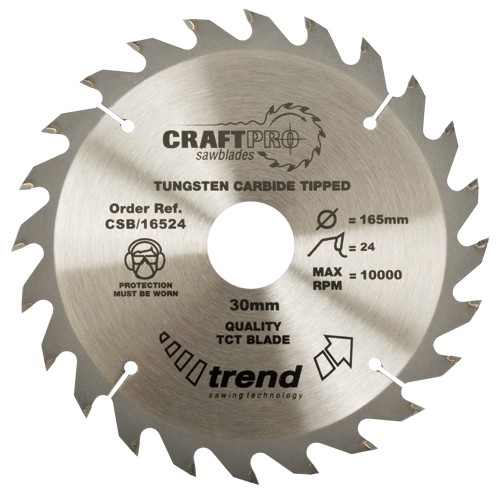 TREND CSB/21524 CRAFT SAW BLADE 215MM X 24T X 30MM