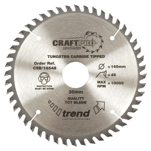 TREND CSB/21548 CRAFT SAW BLADE 215MM X 48T X 30MM