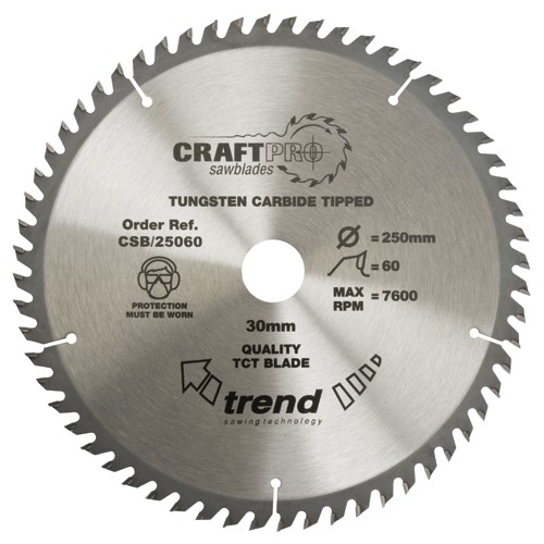 TREND CSB/21560 CRAFT SAW BLADE 215MM X 60T X 30MM