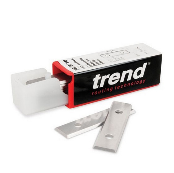 TREND RB/B/10 ROTA-TIP BLADE 49.5X12X1.5MM (PACK OF 10)