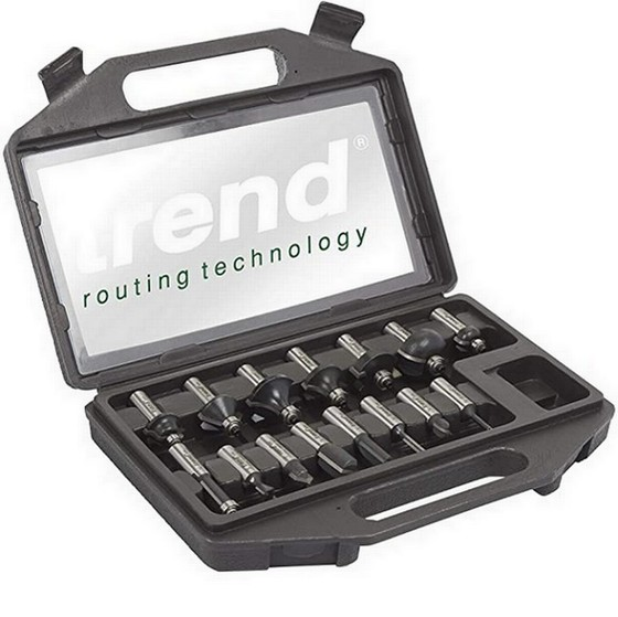 TREND SET/SS9X1/2TC 15 PIECE 1/2 SHANK TCT ROUTER CUTTER SET