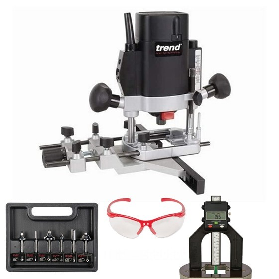 TREND T5EB 1/4 INCH ROUTER 240V + 12 PIECE CUTTER SET