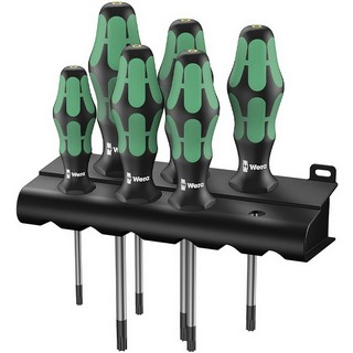 WERA 367/6 BO KRAFTFORM PLUS SECURITY TORX SCREWDRIVER SET 6PC