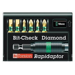 WERA WER056370 7 PIECE BIT-CHECK BI-TORSION DIAMOND COATED SET